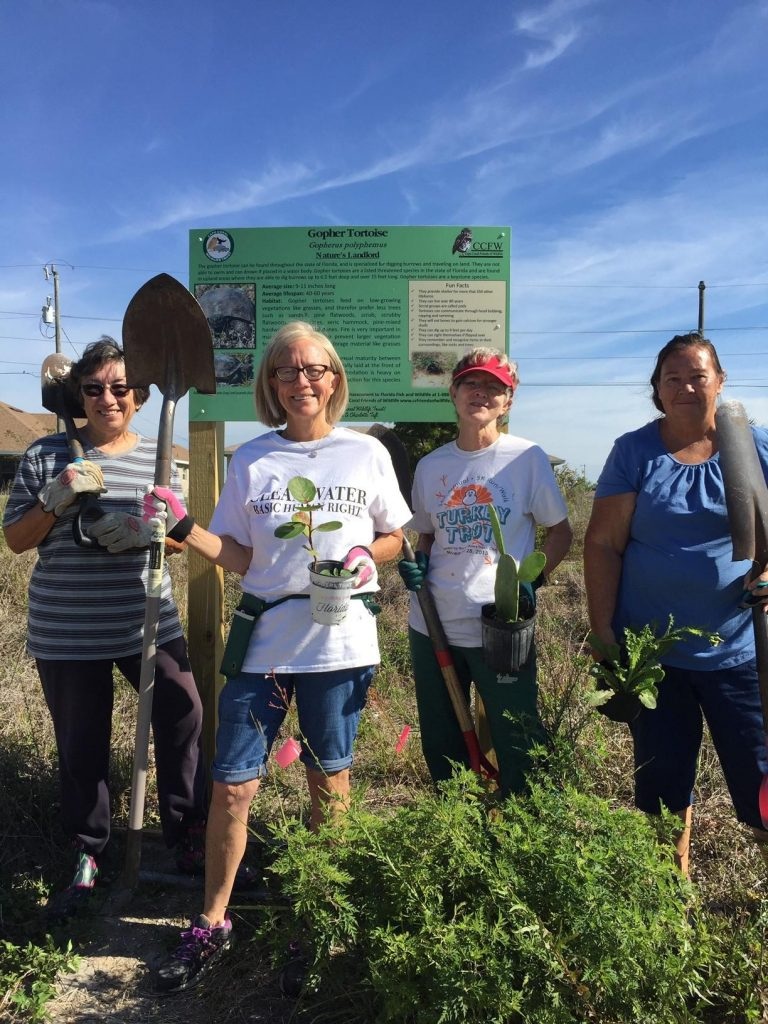 CCWT: Team effort to educate the public with a new sign on a new land purchase