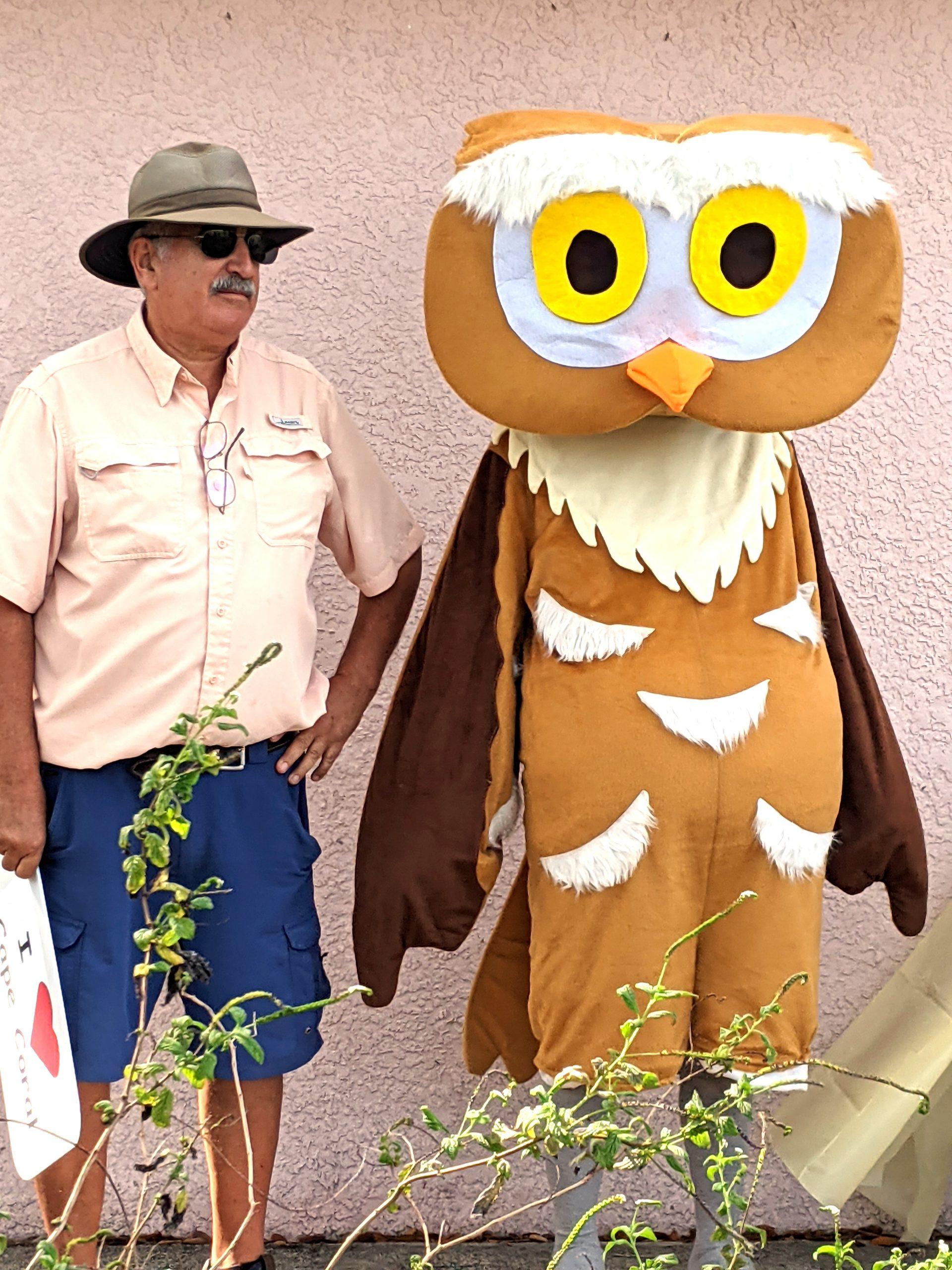 Paul Bonasia & Athene, our mascot.