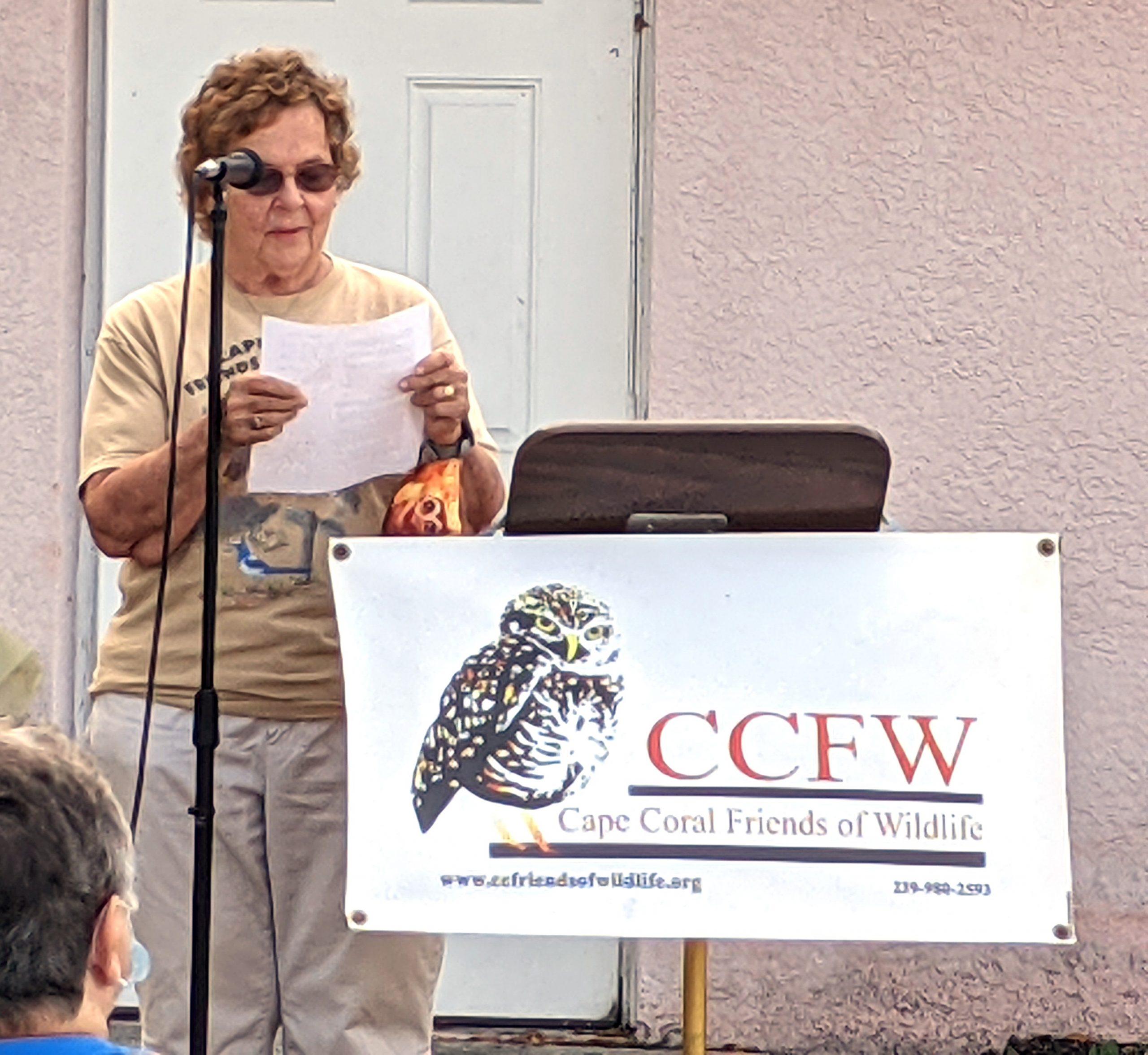 Beverly Saltonstall, read a letter by Carol Kiefer