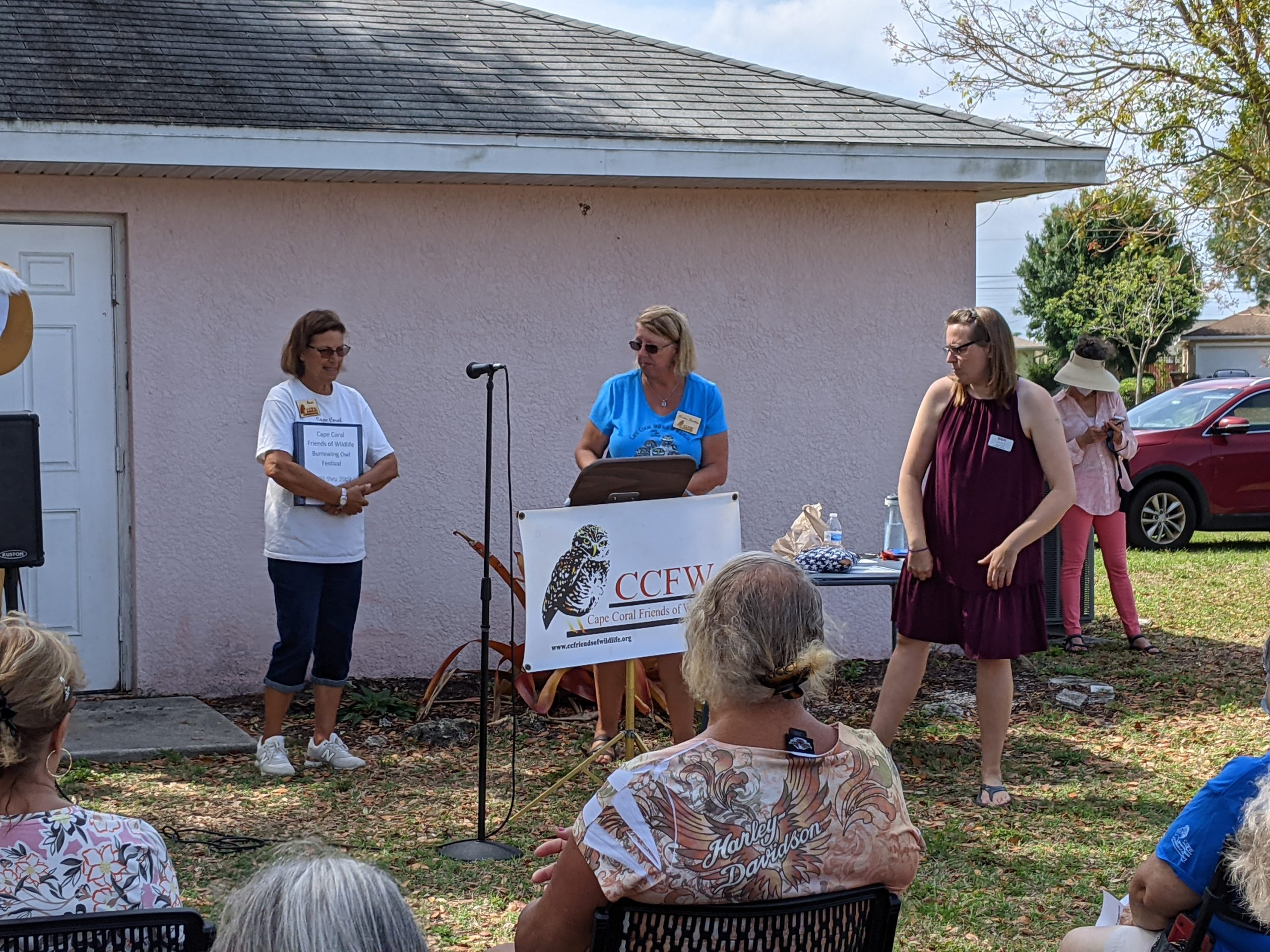 Pascha Donaldson,  Marlene Paulding,  & Janel Trull,  Executive Director of the  Cape Coral Museum of History